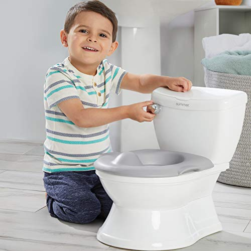 Summer My Size Potty Train and Transition, White   – Realistic Potty Training Toilet Looks and Feels Like an Adult Toilet – Includes Removable Potty Topper and Storage Hook, Easy to Empty and Clean