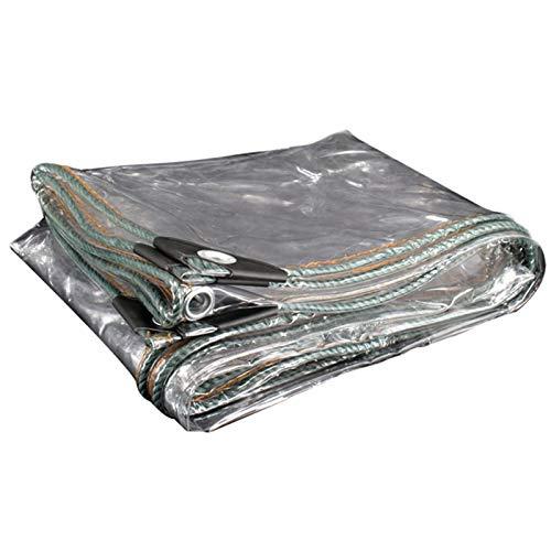 WAJIEFD Lona Impermeable PVC Espesar 0.3MM Transparente Cortina De Lluvia Al Aire Libre De Jardinería, Personalización De Soporte (Color : Clear, Size : 4.0X4.0M)