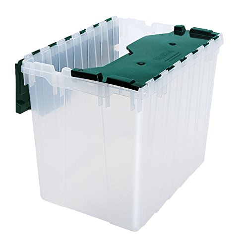 Akro-Mils 66497CLDGN 21-1/2 x 15 x 17' Semi Clear 18 gallon Plastic Storage Keep Box with Attached Lid