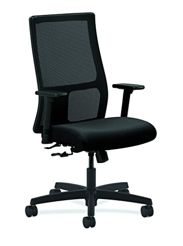 HON Ignition Series Mid-Back Work Chair - Mesh Computer Chair for Office Desk, Black (HIWM1)