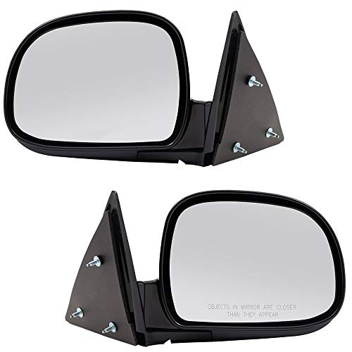 Replacement Driver and Passenger Set Manual Side Door Mirrors Below Eyeline Compatible with 1995-1998 Blazer 8151508490 8151508500