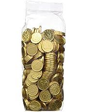 MONEDAS DE CHOCOLATE CON LECHE - 28 MM DE DIAMETRO - BOLSA 300 UNIDADES-