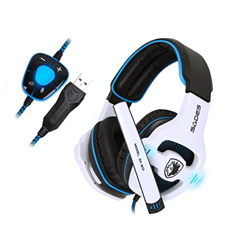 SADES Stereo 7.1 Surround Pro USB Gaming Headset with Mic Headband...