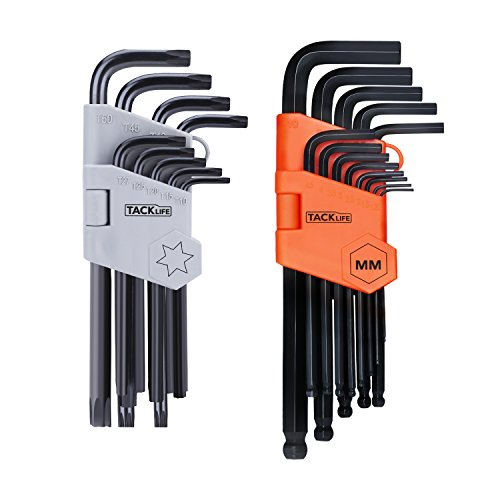 Hex Key, Tacklife 22PCS Allen Keys Set Metric Long Arm Ball End and Torque...