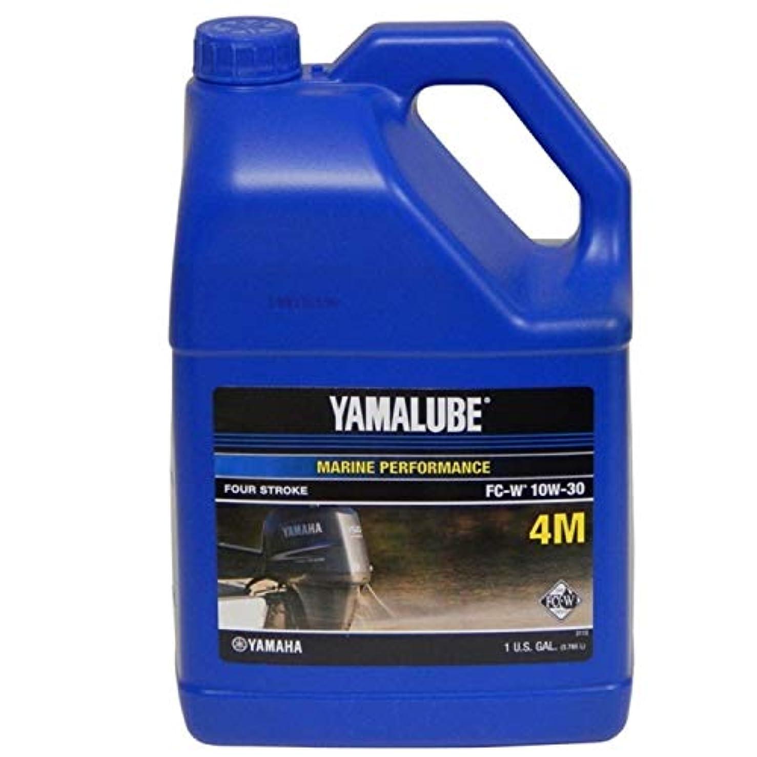 Yamaha LUB-10W30-FC-04 Yamalube 10W30 MARINE Oil NMMA FCW (Low Phosphorous) Gallon; LUB10W30FC04 Made by Yamaha
