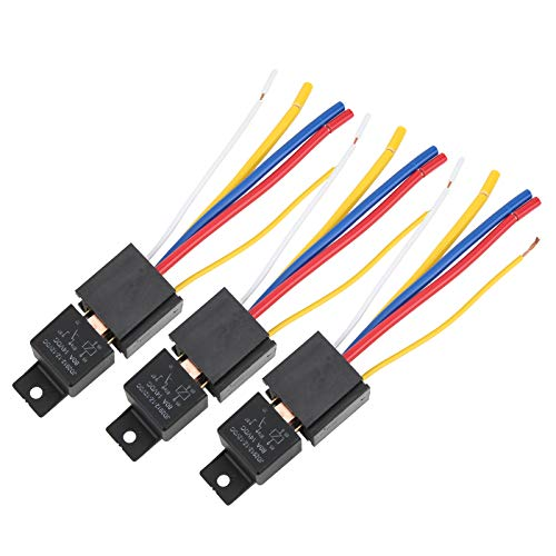 Relé de coche, 3 uds DC12V 80A relé intermitente LED impermeable relé de luz de señal de giro LED de 5 pines para electrónica automotriz