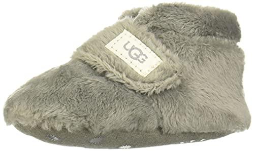 UGG Baby BIXBEE Crib Shoe, Charcoal, 0/1 M US Infant