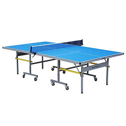T&R sports Outdoor Professional Grade Ping Pong Table Tennis Table,Fordable with Free Rackets Balls and Net, Quick and Easy Assembly, Solo Play Mode