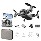 XIAOY HD 1080P4K RC Quadcopter with LED Lights with Camera 360 Degree Stunt Mini Folding Remote Control Drone Toy Speed Adjustable Headless Mode Onekey Automatic Return Multiple Functions Appropriate