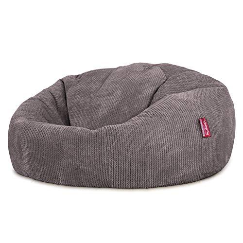 Lounge Pug®, Sitzsack Sofa, Relaxsessel, Pom-Pom Anthrazit