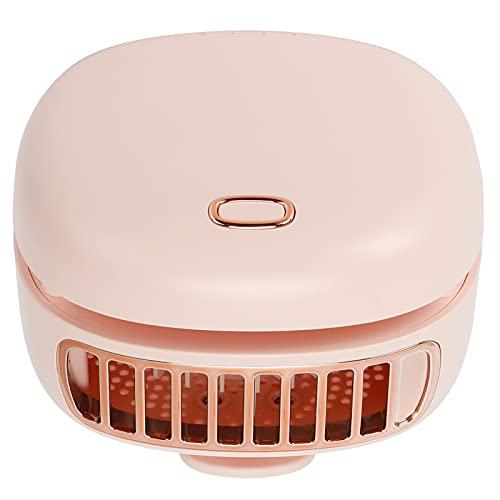 Mini Ventilador, Ventilador de Viaje, turbinas Gather Wind Design Mini Ventilador de Cuello Manos Libres para el hogar para Viajes al Aire Libre(Pink)