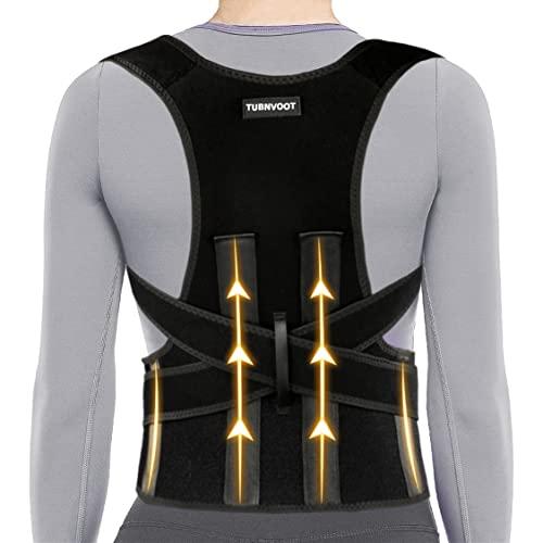 Back Brace Posture Corrector For Women and Men - Upper Back Straightener Posture Corrector Support -...
