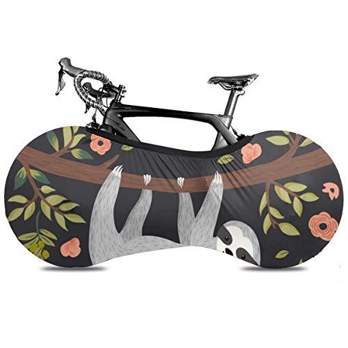 All That Jazz Cubierta de Bicicleta Portátil Interior Anti Polvo Alta Elástica Cubierta de Rueda Cubierta de Bicicleta Protector Rip Stop Neumático Carretera MTB Bolsa de Almacenamiento, Feliz cumpleaños perezoso, talla única