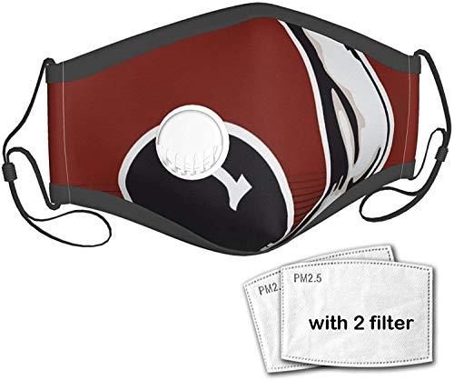 KINGAM Water Polo Unisex Outdoor Staubtuch Mundmaske Wiederverwendbare Gesichtsmaske Sturmhaube mit einem Ventil mit 2 Filter