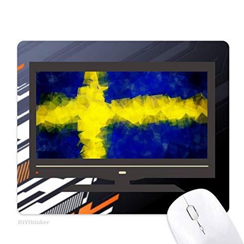 le résumé pavillon modèle suédois tapis de souris informatique bureau de caoutchouc antidérapant.