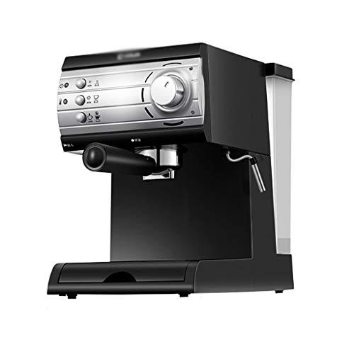 Máquina De Café Expreso Semiautomática, Máquina De Café con Espuma De Leche, Alta Presión De 20 Bar, Extracción A Temperatura Constante, Hogar Pequeño Tipo Vapor (Color : Black, Size : 220V)