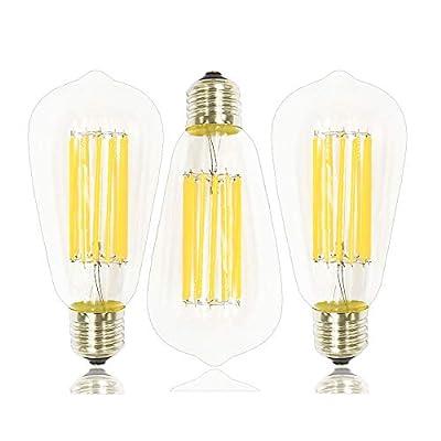 LuxVista 10W Vintage Edision Shape Squirrel Cage Filament Light Bulb ST21(ST64) LED
