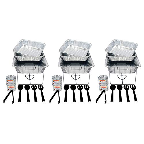 Party Essentials - UPK-33 - UPK-33 33 Piece Party Serving Kit, Includes Chafing Kits and Serving Utensils