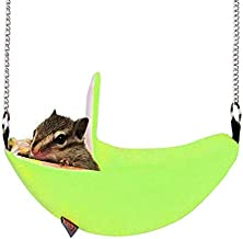 WTYD Pet Supplies W4032 Hanging Swing Bed Banana Type Bed Small Nest Moon Bed for Small Animal(Green) (Color : Green)