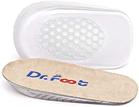 Dr.Foot Height Increase Insoles, Heel Cushion Inserts, Heel Lift Inserts for Leg Length Discrepancies (Small (0.5