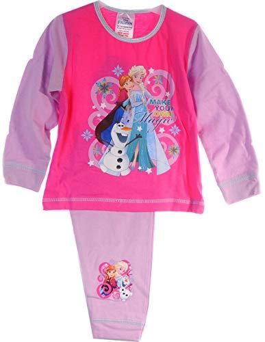 Schlafanzug Kinder Pyjama Hose Shirt Frozen Disney Eiskönigin Anzug Anna ELSA (18/24-86/92)
