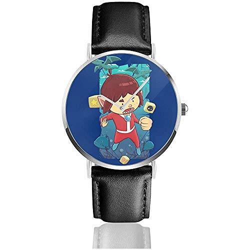 Alex Kidd en Miracle World Watches Reloj de Cuero de Cuarzo con...