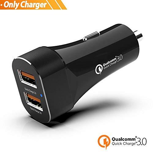 ZXXFR 3.0 Qc Car Fast Charger Carga Rápida para Teléfono Móvil Dual USB Rápido Coche Rapido Cargador del Vehículo, 1 Cargador De Coche