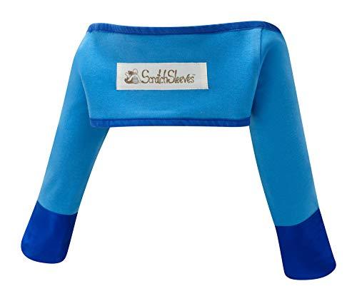 ScratchSleeves | Kratzhandschuhe mit Ärmeln für juckreizgeplagte Babys | Blau | 6-9m