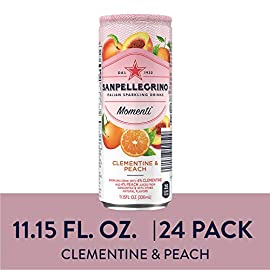 San Pellegrino Momenti, Clementine & Peach, Lemon & Raspberry, Pomegranate & Blackcurrant - Variety Pack, 133.8 Fl Oz (Pack of 12) 8 Sanpellegrino Momenti Lemon & Red Raspberry is the new low calorie, sparkling fruit drink that will add a burst of color to your moments Discover a vibrant and surprising flavor mix of real fruit juice and refreshing bubbles, with no artificial sweeteners A low calorie drink with less than 40 calories per can, enjoy this tasty treat for lighter and brighter moments anytime, anywhere you choose