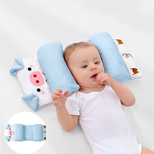 Cybill Babykissen, Kissen mit einstellbarer Größe, geeignet für Babys und Unisex-Babykissen, verhindern Deformationen des Babykopfes, verhindern das Flat-Head-Syndrom, aus 100% Bio-Baumwolle