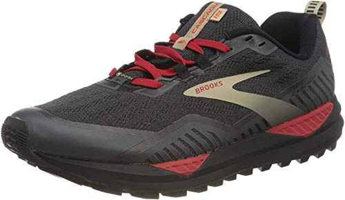 Brooks Cascadia GTX 15, Zapatillas para Correr Hombre, Black Ebony Red, 45 EU