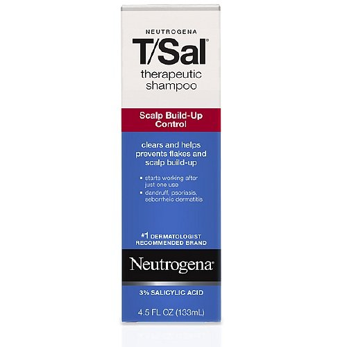 Neutrogena T/Sal Therapeutic Shampoo, Scalp Build-up Control 4.5 fl oz Pack of (1)