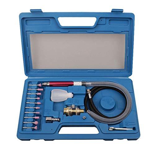 FairytaleMM 16PCS hogesnelheidslucht Micro De grinder potlood kits mini polijsten graveren gereedschapslijpen snijden pneumatische tool (blauw)