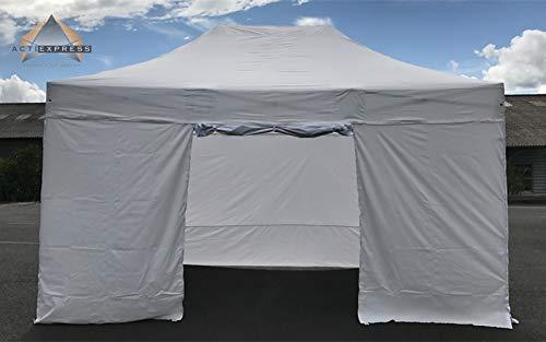 ACTIEXPRESS Lot de bâches d'entourage 3x4,5m pour Tonnelle Pliable, Tente Pliante, Barnum marché, en Polyester-PVC, 100% étanche (Polyester-PVC 220gr/m², Rouge)