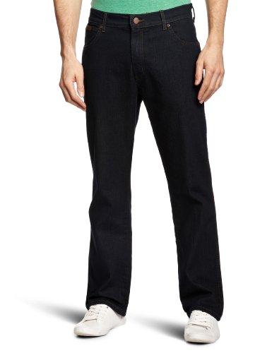 Wrangler Texas Stretch Blue Black, Jeans da Uomo