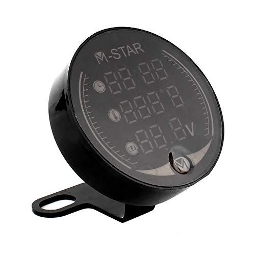 3 in 1 Voltmeter, Entweg 3 In 1 Motorrad ATV Voltmeter + Elektronische Uhr + Thermometer Digitale LED Temperatur Spannungsprüfer