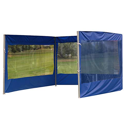 Gazebo Tent Side Panels,9x2m Replacement Side Wall Panel for 3x3m Tent,Three Sides Fully Cover,Waterproof Anti-UV Gazebo Sidewall with Windows,Blue(Only Tent Side Panel)