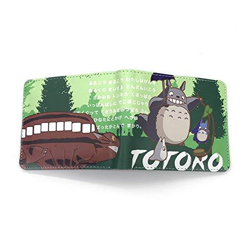 GMANKEE Totoro Geldbeutel Teen Boys Girls Wallets Portmonee Herren Damen Portemonnaie Geldbeutel Portmonee Damen Brieftasche Frauen Anime Brieftasche