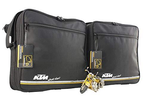 made4bikers Promotion-Bag: Bedruckte Koffer Innentaschen passend für KTM 1050, 1190 und 1290 ADVENTURE, Material Textil, schwarz