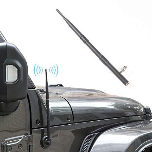 """JeCar Antenna for 2007-2019 Jeep Wrangler JK JKU JL JLU Sahara Rubicon 2/4 Door, 13"""" Flexible Car Radio Antenna"""