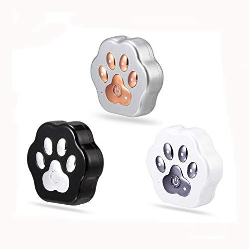 Shjjyp GPS Tracker für Hunde - Leichter und wasserfester Peilsender mit unlimitierter Reichweite,Silber