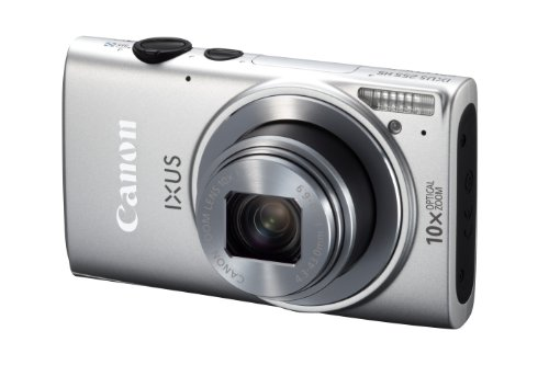 Canon IXUS 255 HS Digitalkamera (12,1 MP, 10-fach opt. Zoom, 7,5cm (3 Zoll) Display, Full-HD, bildstabilisiert) silber