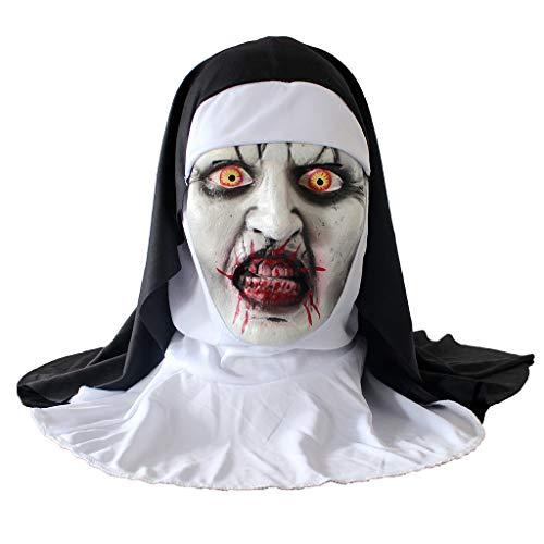 QIMANZI Höllenbestie Monster Dämon Horror Grusel Maske Perfekt für Fasching Karneval Halloween Kostüm für Erwachsene Latex Unisex Einheitsgröße(A Grau)