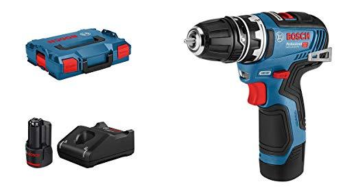 Bosch Professional 12V Akku-Bohrschrauber GSR 12V-35 FC (inkl. 2x3.0 Ah Akku, Schnellladegerät GAL 12V-40, inkl. Bohrfutteraufsatz GFA 12-B, in L-BOXX, Bestellnr. 06019H3001) - FlexiClick System