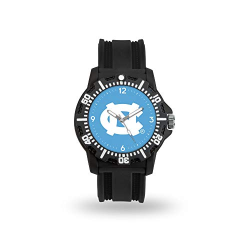 Rico Industries NCAA Modelo Tres Relojes - WTMDT130101, 9.5-Inch Band, 1.75-Inch Face, Negro