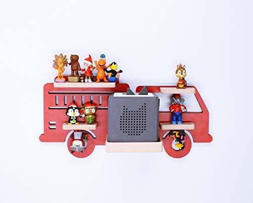 BOARTI Kinder Regal Feuerwehr small in Rot, Feuerwehrauto geeignet für die Toniebox und ca. 25 Tonies - zum Spielen und Sammeln