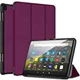 All-New Kindle Fire HD 8 and Fire HD 8 Plus Tablet 10th Generation 2020 Release Case, Auto Sleep/Wake Slim Lightweight Magnetic Stand Smart Leather Case Cover (Purple)