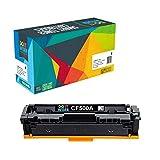 Do it wiser 203A CF540A Cartucho de Tóner Compatible con HP Color Laserjet Pro M254dw M281fdw M254dn M254nw M280nw M281cdw M281fdn - 1400 Páginas - (Negro)
