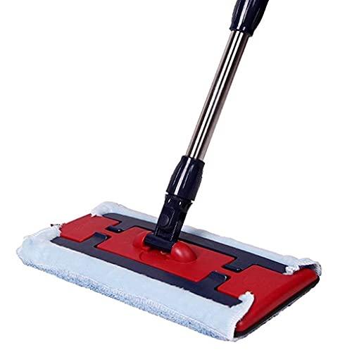 Mop-Microfibra de madera dura lavable reutilizable fregona plana trapeador trapeador trapeador almohadillas, para limpieza de piso húmedo o seco