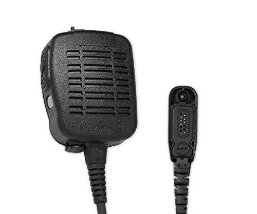 Review ARC S21075 Heavy Duty Water Dust Proof (IP68 Rated) Shoulder Speaker Mic for Motorola Multi-P...